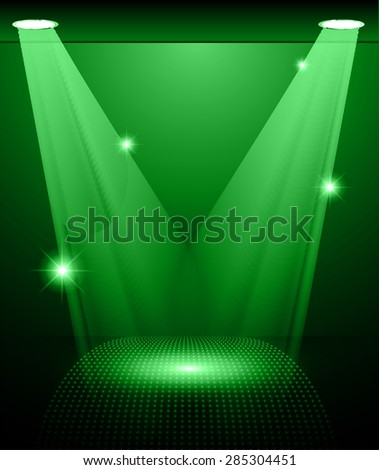 stage lighting green background
