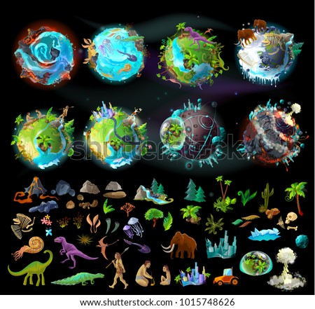 stages of earth evolution