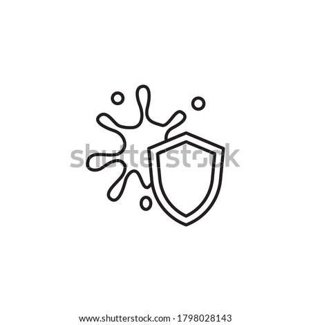 stain resistance outline flat icon Stock photo ©