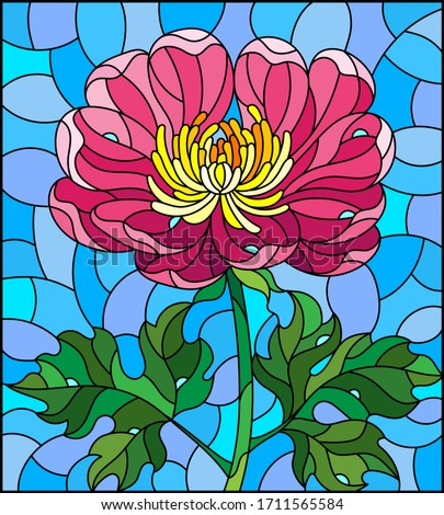 stained glass illustration with
