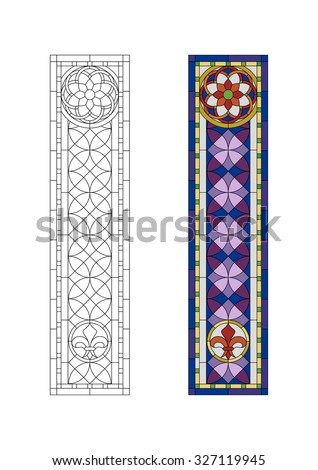 Stained glass  pattern, Gothic ornament