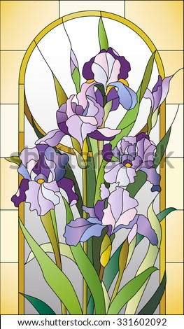 stained glass pattern  with