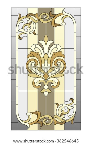 stained glass window in the