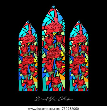 stained glass window shape