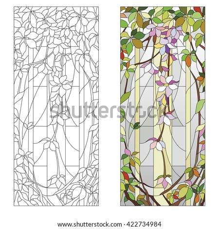 stained glass window with