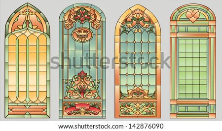 stained glass windows with