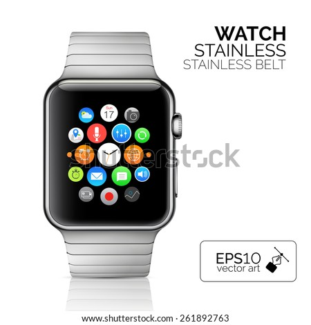 stainless silver smart watch