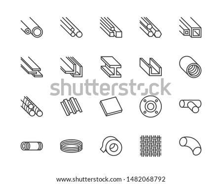 stainless steel flat line icons
