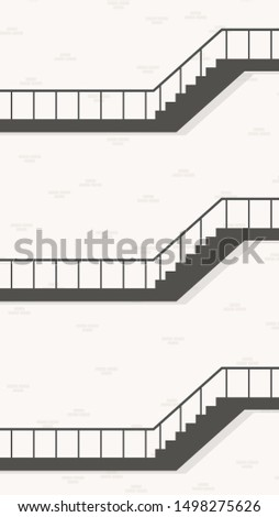 Stair and wall vector.  Stair apartment vector. wallpaper. free space for text. copy space.