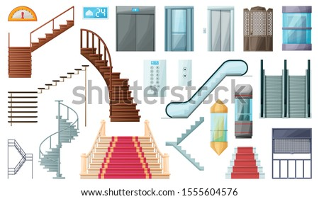 staircase and lift vector
