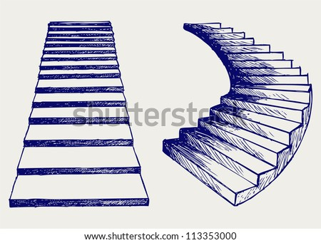 Staircase. Doodle style
