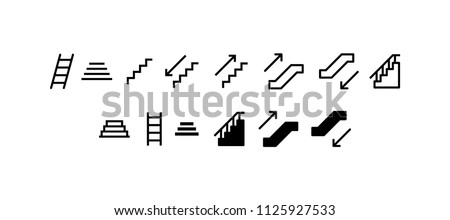 Stairs Icon Design Vector Symbol Staircase Stairway stock photo
