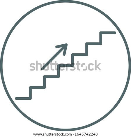 Stairs icon. Stairs symbol. Vector illustration