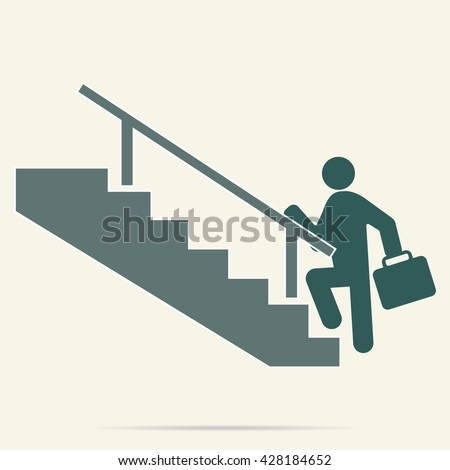 stairs icon vector illustration