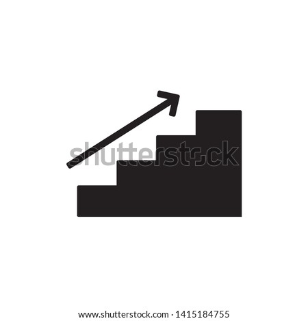 stairs icon vector. on white background