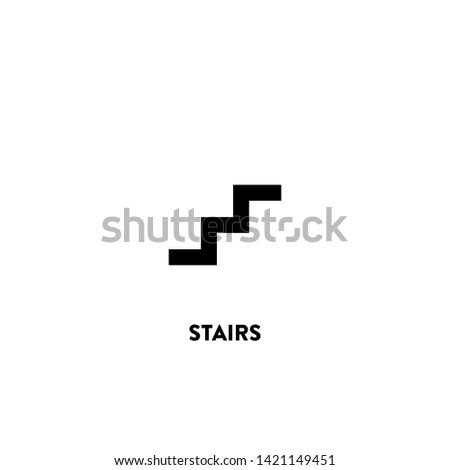 stairs icon vector. stairs sign on white background. stairs icon for web and app