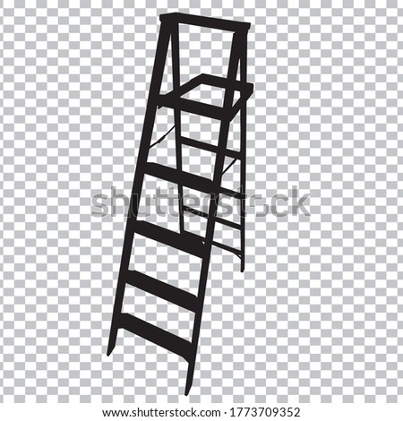 Stairs Icon with transparancy background