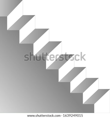 stairs of gray stairs on a white background