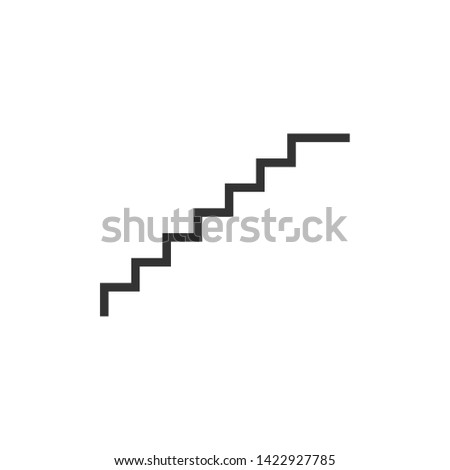 stairs symbol. Stairs icon upward, downward, isolated vector illustration