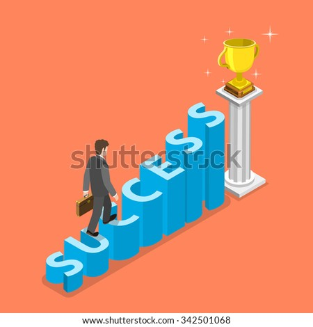 stairs to success isometric