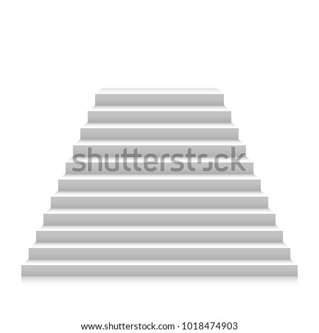 stairs up vector illustration