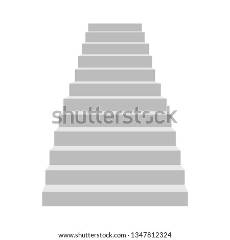 Stairs vector design illustration isolated on white background