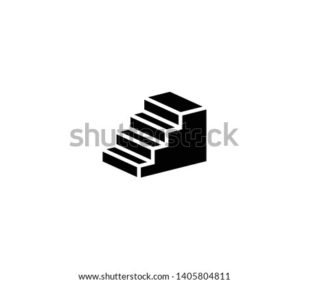 Stairs vector isolated illustration. Stairs icon