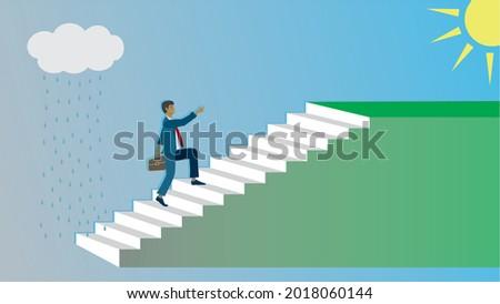 stairway from rain to sun