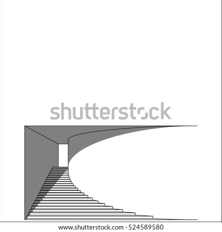 stairway in the portal with