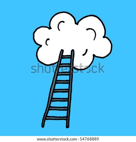 Stairway to heaven sketch. Vector.