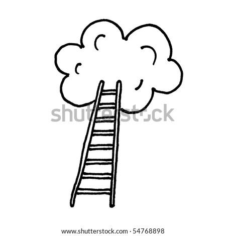 Stairway to heaven sketch. Vector. - stock vector