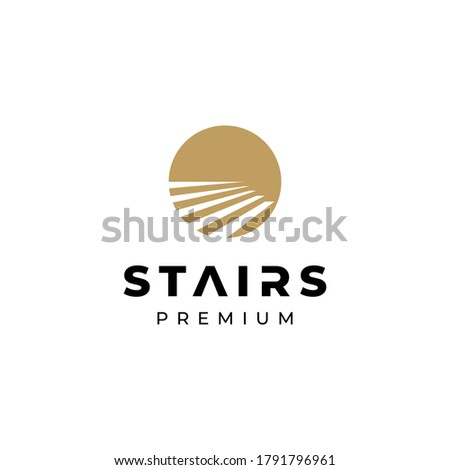 Stairway, upstairs logo symbol vector illustration Сток-фото ©