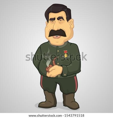 Stalin- soviet dictator in cartoon style Stock photo ©