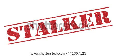 stalker vector stamp on white