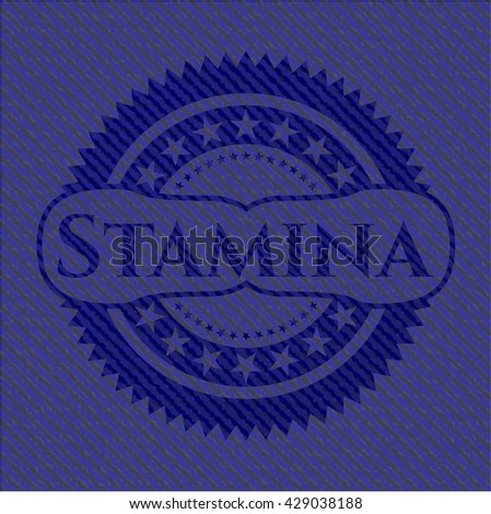 Stamina badge with jean texture