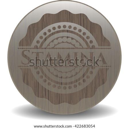 Stamina retro style wood emblem
