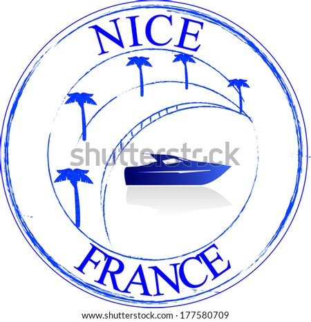 stamp france   nice
