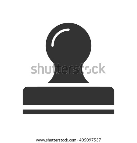 Stamp icon vector, solid illustration, pictogram isolated on white