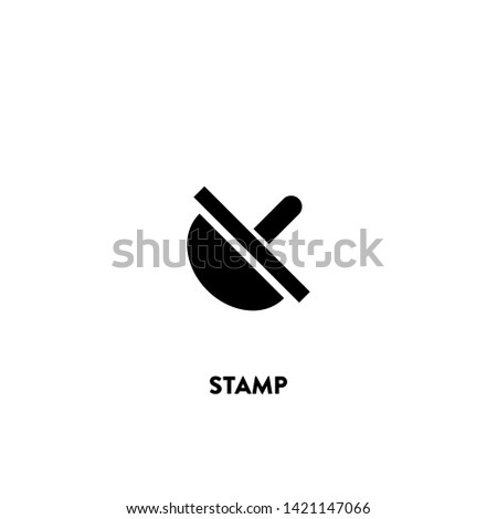 stamp icon vector. stamp sign on white background. stamp icon for web and app
