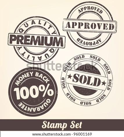 Stamp Set - A collection of ink stamps