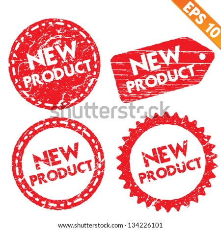 Stamp stitcker new product tag collection - Vector illustration