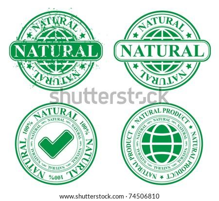 stamp template - natural 100%