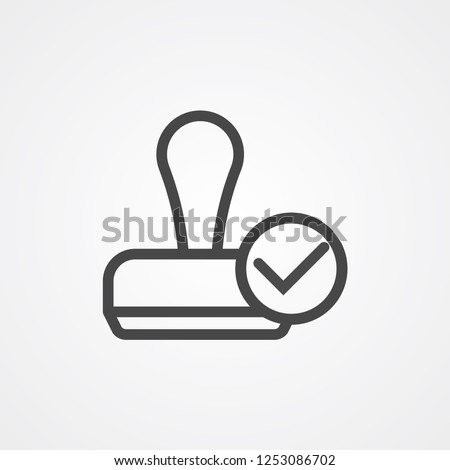 Stamp vector icon sign symbol