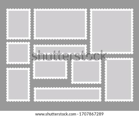 Stamp vector illustration material set Foto stock ©