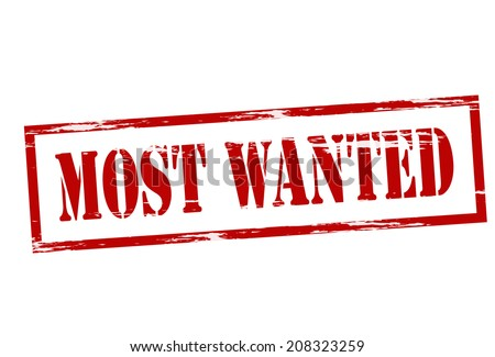 stamp with text most wanted