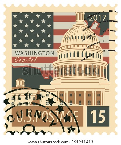 stamp with the image of the us...