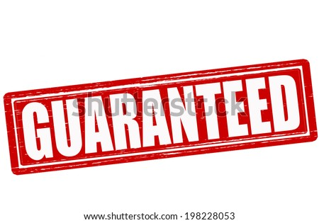 Stamp with word guaranteed inside,vector illustration Stock photo ©