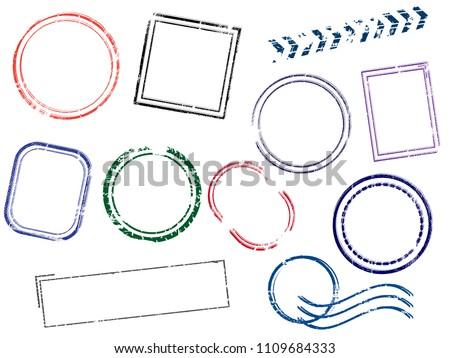 Stamps Frames vector illustration