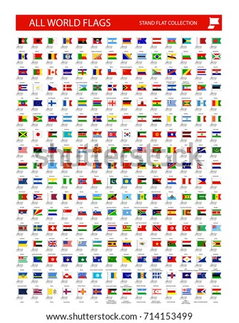 Stand flag icon. All World country flags organized by layers with each flag on a single layer properly named.