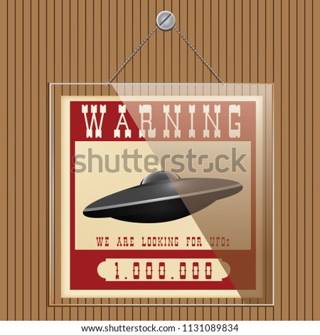 Stand under the glass. Warning search for UFOs. Looking for a UFO with a financial